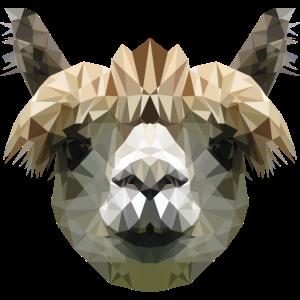 Alpaka Pop-Art WPAP Polygon