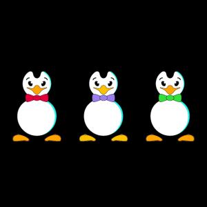 Pinguin Vögel Flossen Fliege Krawatte Frack Winter