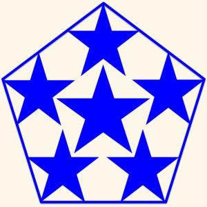 5 STAR Sterne blau
