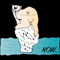 Es taut in der Arktis... Eisbär