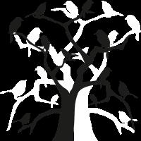 Voegel am Baum