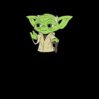Yoda Wortspiel schwarz