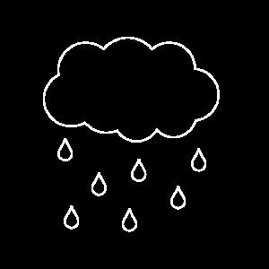 Regenwolke Geschenk Idee weiss