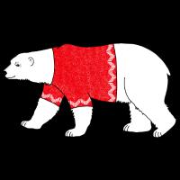Eisbär Nordpol Arktis Weihnachtsgeschenk