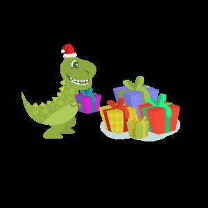 T-Rex - Dino - Weihnachtsmann - Xmas - Geschenke