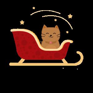 Katze im Schlitten - Weihnachten - Kitty