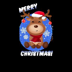 Weihnachten Rentier Merry Christmas Geschenk