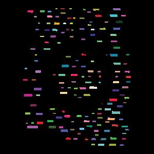 Kreis im Liniendesign