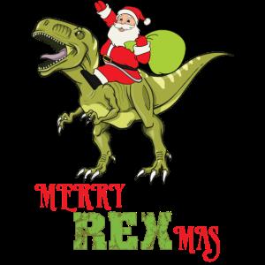 Frohe Weihnacht T-Rex Dinosaurier Santa Geschenke