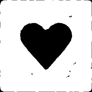 Herz im Quadrat