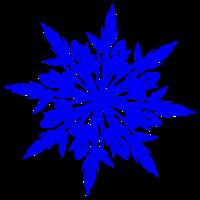 blauer Eiskristall