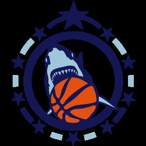 Basketball Hai Hai hai trägt logo