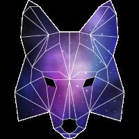 Geometrischer Fuchs | Low Poly Galaxie Wildnis