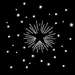 Stern Liniendesign mit sternen weiss