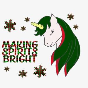 Unicorn making spirit bright