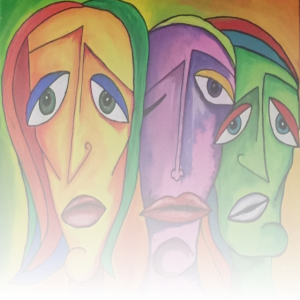 Faces Abstrakte Malerei