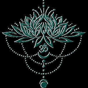 Lotus Lotusblume Om Symbol Mond Yoga