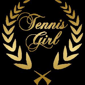Tennis Girl Gold Motivation cooler Spruch Geschenk