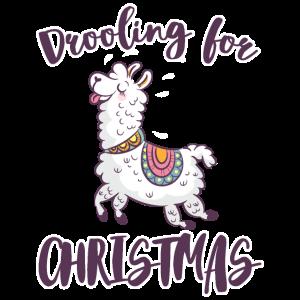 Lama Alpaka Weihnachten Tier Zoo Winter Geschenk