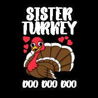 Schwestertruthahn-Erntedankgeschenk