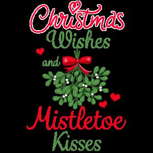 Weihnachten Wünsche Mistelzweig