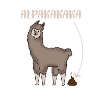 Alpakakaka Alpaka Geschenk