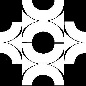 Muster aus Halbkreisen weiss
