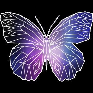 Geometrischer Schmetterling   Low Poly Galaxie