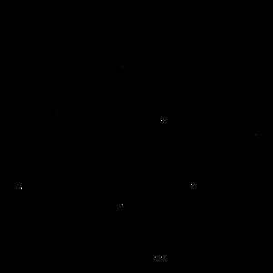 Muster aus Halbkreisen schwarz