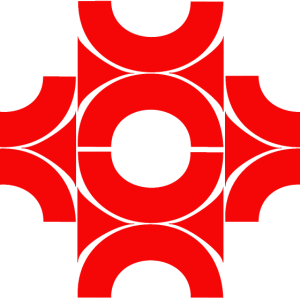 Muster aus Halbkreisen rot
