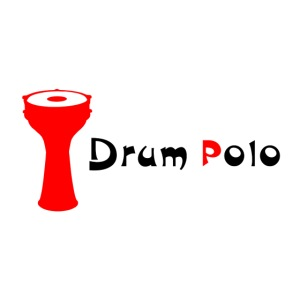 Drum Polo Black / Red small front