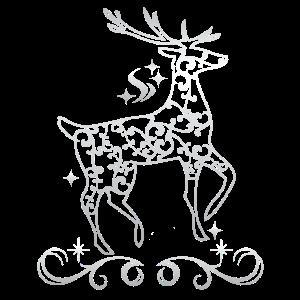Silver Christmas Reindeer