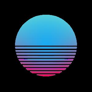 Retro Wave Sonne Synthwave Vaporwave