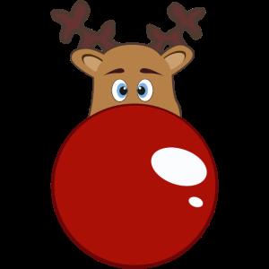 Rudolph - rote Nase - Schwanger - Frau - Rentier