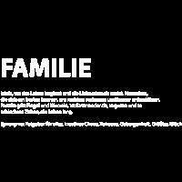 Wort Definition Familie Geschenk Idee weiss
