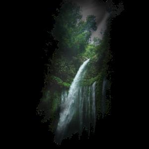 Wasserfall Waterfall Stroemung Fluss Geschenk