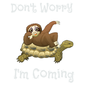 Lustig, mach dir keine Sorgen, ich komme Faultier & Schildkröte