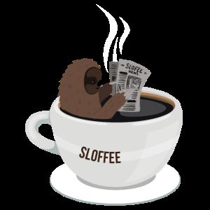 Faultier Kaffee Tasse Sloffee Sloth Geschenk