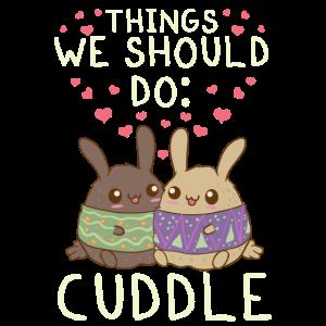 Kawaii Dinge, die wir tun sollten: Anime Tiere kuscheln