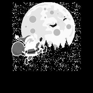 Weihnachtsmann |Traurig Rentier Schlitten| Witzig