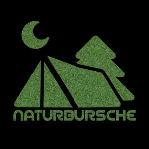 NATURBURSCHE Zelt, Tanne, Mond und Gras