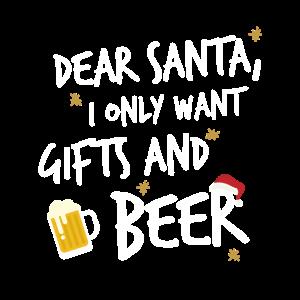 Geschenke und Bier zu Weihnachten