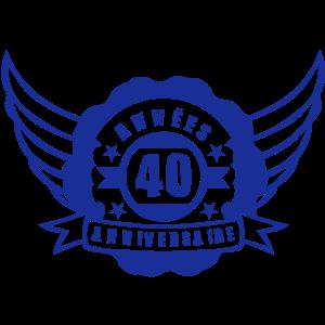 40 Jahre Geburtstag Wimpel Banner