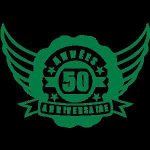 50 Jahre Geburtstag Wimpel Banner