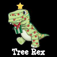 Angry Tree Rex Xmas Dinosaur Christmas Lights