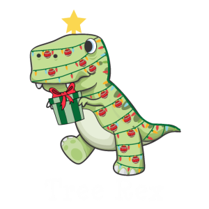Angry Tree Rex Xmas Dinosaur Christmas Lights