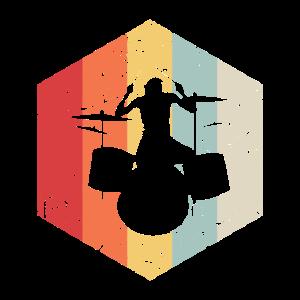 Retro Schlagzeuger