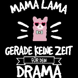 Mama Lama hat keine Zeit für Drama weiss