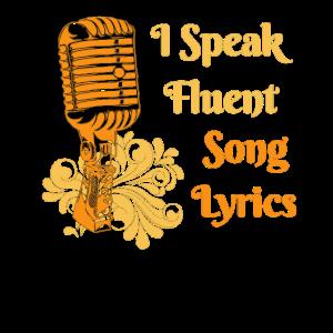 Ich spreche fließende Liedtexte Singende Sänger