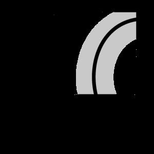 Muster aus Halbkreisen 2 schwarz grau